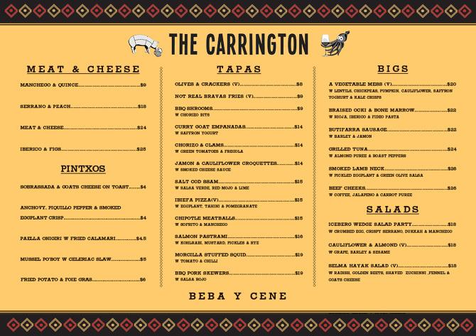 The carrington david horne for The carrington